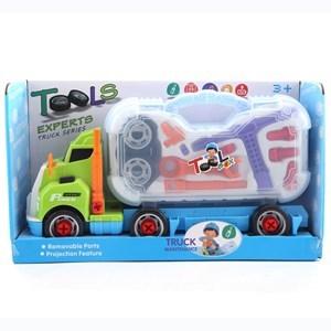 Imagen de Vehículo, camión con luz, con valija y 12 herramientas, en caja