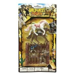Imagen de Indio con caballo x2 con accesorios, en blister