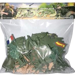 Imagen de Soldaditos con acccesorios militares, en bolsa