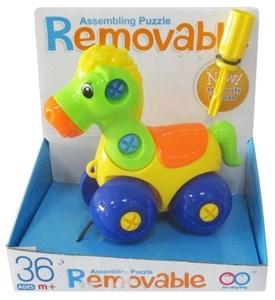 Imagen de Arrastre caballito desarmable, con herramientas, en caja.