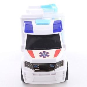 Imagen de Ambulancia con luz y sonido, valija con set de doctor 12 piezas, 2AA, en caja
