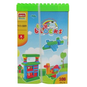 Imagen de Blocks 108 piezas, caja con tapa