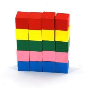 Imagen de Blocks 20 piezas, cubos de madera, en bolsa
