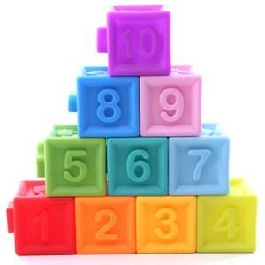 Imagen de Blocks x10, cubo de goma con chifle, con encastre, en caja