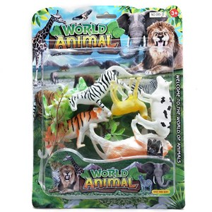 Imagen de Animales surtidos, x6, con accesorios, en blister