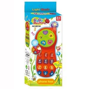 Imagen de Celular infantil, con luz y sonido, 2AA, 2 colores, en caja