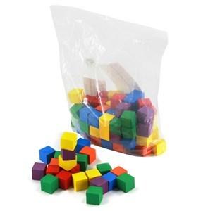 Imagen de Blocks 100 piezas, cubos de madera, en bolsa
