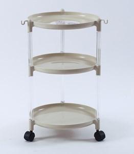 Imagen de Organizador de plástico, 3 estantes, con ruedas