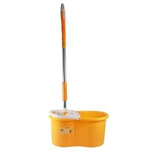 Imagen de Mopa de microfibra mango de acero inoxidable extensible, balde de plástico + repuesto
