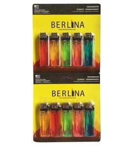 Imagen de Encendedor transparente Berlina, caja x80 blister de 10 unidades, (800 unidades)