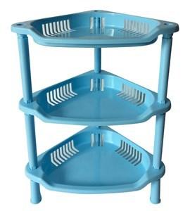Imagen de Organizador de plástico esquinero, 3 estantes, varios colores
