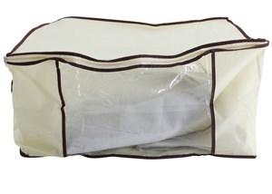 Imagen de Caja, bolsa organizadora de TNT, con visor, ideal para guardado de ropa, acolchados, etc