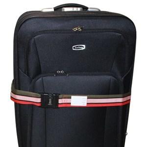 Imagen de Cinturón de seguridad para valijas, con combinación, con tarjeta de identificación, en PVC