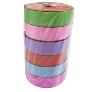 Imagen de Cinta de regalo lisa, 2.8cm, pack x6 rollos de varios colores