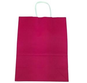 Imagen de Bolsa de regalo de papel con asa, mediana, pack x12, varios colores