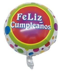 """Imagen de Globo metalizado """"Feliz Cumpleaños"""", en bolsa"""
