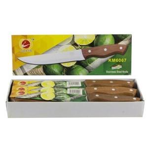 Imagen de Cuchillo de acero inoxidable, para asado, caja x12