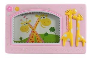 Imagen de Portarretrato infantil en caja, rosado y celeste
