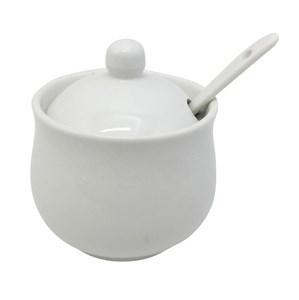Imagen de Azucarero de cerámica con tapa, con cuchara, PACK x8