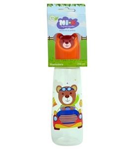 Imagen de Mamadera de plástico, tapa con diseño, en cartón, MI-K, varios diseños