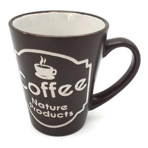 Imagen de Taza de loza, con diseño de café, surtidos