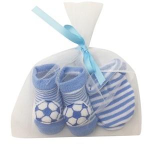 Imagen de Medias para bebé con aplique + mitones en bolsa de red, varios diseños