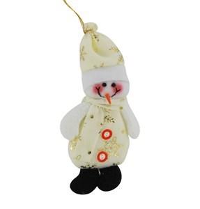 Imagen de Adorno navideño muñeco de nieve de tela, pack x12