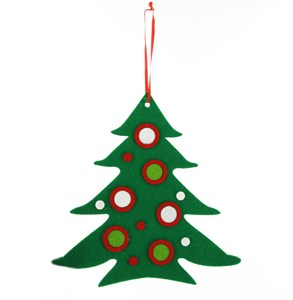 Imagen de Adorno navideño arbolito de paño, en bolsa