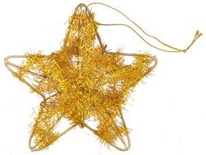 Imagen de Adorno navideño estrella de alambre, 2 colores, en bolsa