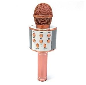 Imagen de Micrófono inalámbrico, con parlante incorporado, conexión bluetooth, batería recargable, USB, en caja, varios colores