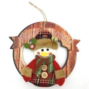 Imagen de Adorno navideño corona para puerta, con diseños en tela