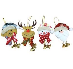 Imagen de Adorno navideño, para colgar, con campanas, varios diseños, PACK x12