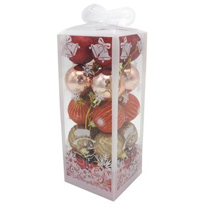 Imagen de Adornos navideños y bolas x20, surtidos, en caja de mica