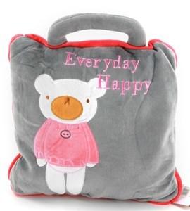Imagen de Frazada manta polar para bebé, se convierte en almohadón con cierre, varios diseños