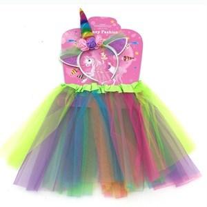 Imagen de Disfraz pollera con tiara de unicornio, en bolsa
