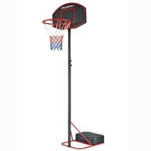 Imagen de Tablero de basket de PE, aro de metal, pie con altura regulable, en caja, FILIPPO