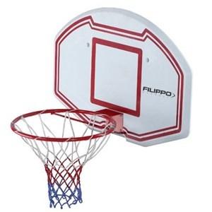 Imagen de Tablero de basket de PE, aro de metal, para pared, FILIPPO