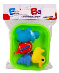 Imagen de Animales de goma con chifle, x4, con bandeja, en bolsa.