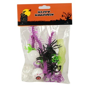 Imagen de Arañas y accesorios de halloween, en bolsa