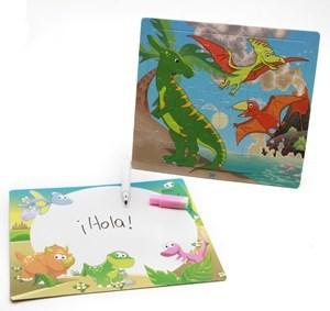Imagen de Pizarra con marcador y puzzle de cartón, en bolsa, varios diseños