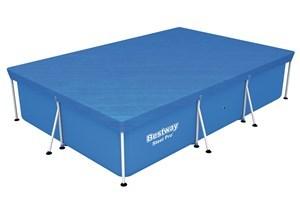 Imagen de Lona cobertor para piscina, Bestway, en PE, incluye cuerdas para asegurar