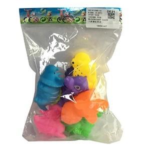 Imagen de Animales de goma con chifle, x6, en bolsa