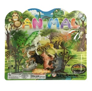 Imagen de Animales surtidos chicos x10, con accesorios, en blister
