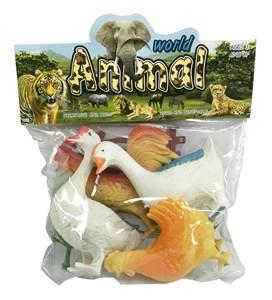 Imagen de Animales de granja x4, aves con accesorios, en bolsa