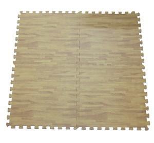 Imagen de Alfombra de goma EVA x4, diseño símil madera