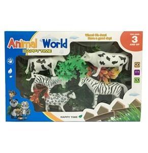 Imagen de Animales de granja x5, con accesorios, en caja