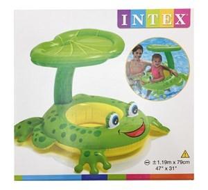 Imagen de Inflable flotador bote con asiento y techo, en caja, INTEX