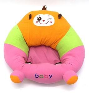 Imagen de Almohadón silla de apoyo para bebé, de tela, con cierre, 3 diseños