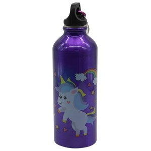 Imagen de Botella deportiva de aluminio, con gancho mosquetón, 250ml, varios diseños infantiles