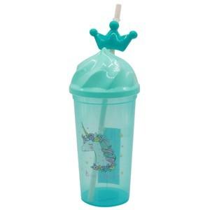 Imagen de Vaso de plástico tapa con sorbito, 500ml, diseños infantiles, 2 colores
